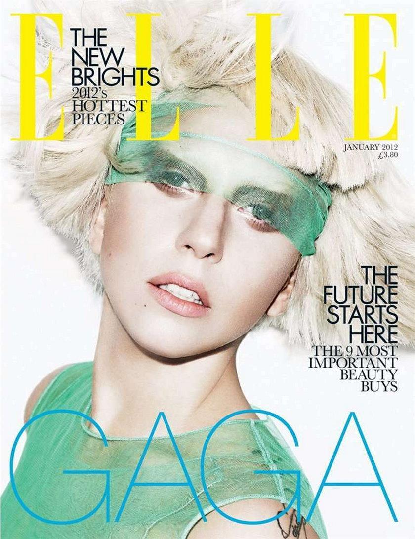Lady Gaga Elle styczeń 2012