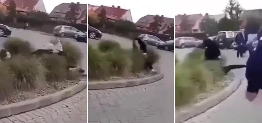 Szokująca bójka dziewczyn przed szkołą. Nikt nie reagował