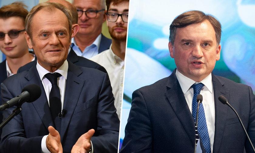 Donald Tusk i Zbigniew Ziobro.