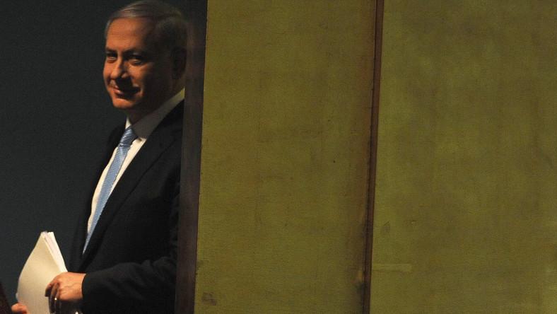 Premier Izraela Benjamin Netanyahu przed wygłoszeniem przemówienia w ONZ