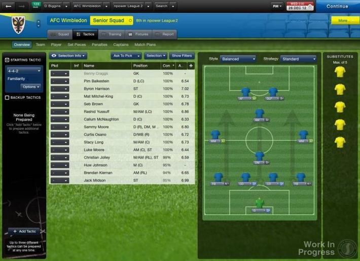 Football Manager 2013 AFC Wimbledon_ Overview