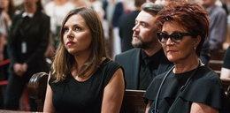 Wzruszona Kwaśniewska na pogrzebie Wodeckiego