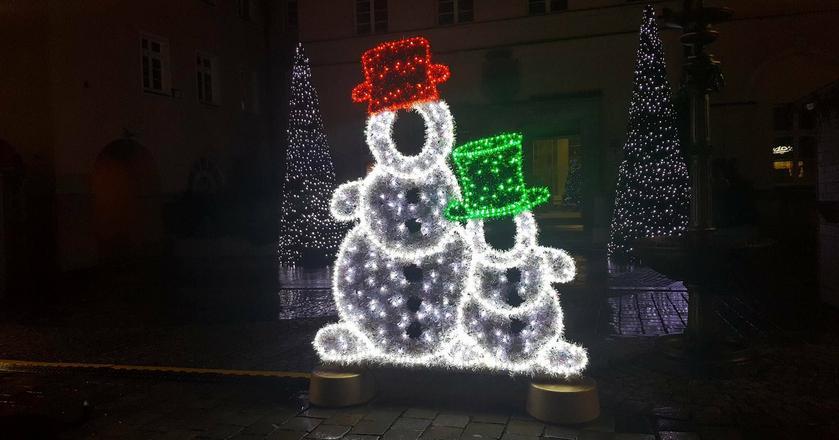 Iluminacje świąteczne w Opolu