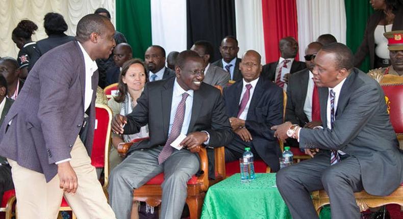 President Uhuru Kenyatta with DP William Ruto and CS Henry Rotich