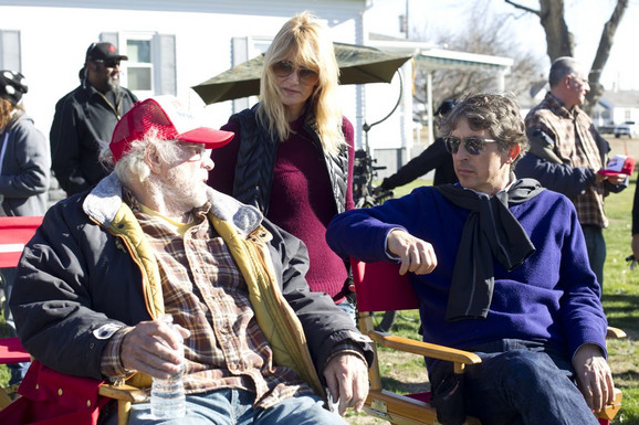 Pejn sa Brusom i Lorom Dern na snimanju