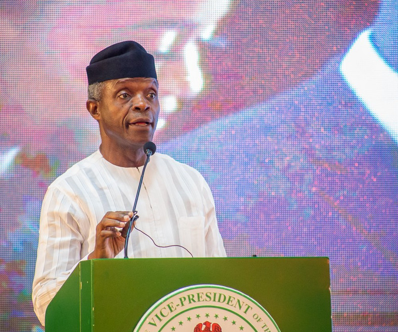 Vice President Yemi Osinbajo frowns at bribes for licenses, passports, clearing of goods [Twitter/@ProfOsinbajo]