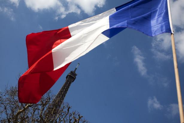 Flaga Francji, fot. Balint Porneczi/Bloomberg