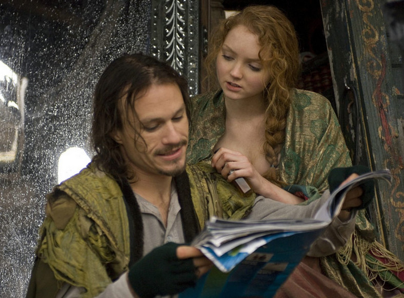 "Heath Ledger i Lily Cole w filmie Terry'ego Gilliama ""Parnassus"""