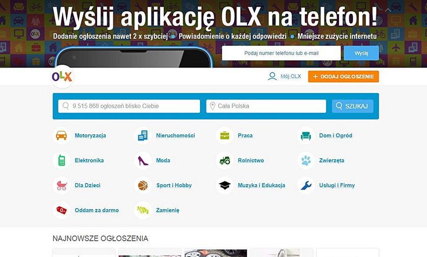 OLX.pl to popularna platforma z ogłoszeniami dotyczącymi sprzedaży.