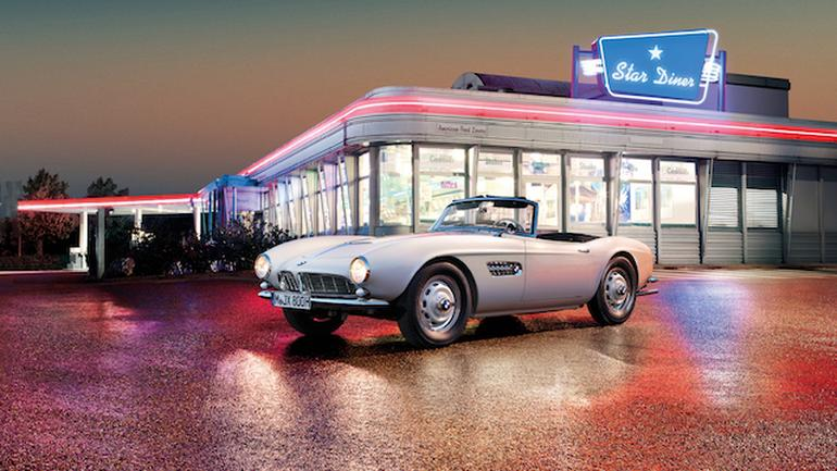 Odrestaurowane BMW 507 Elvisa Presleya