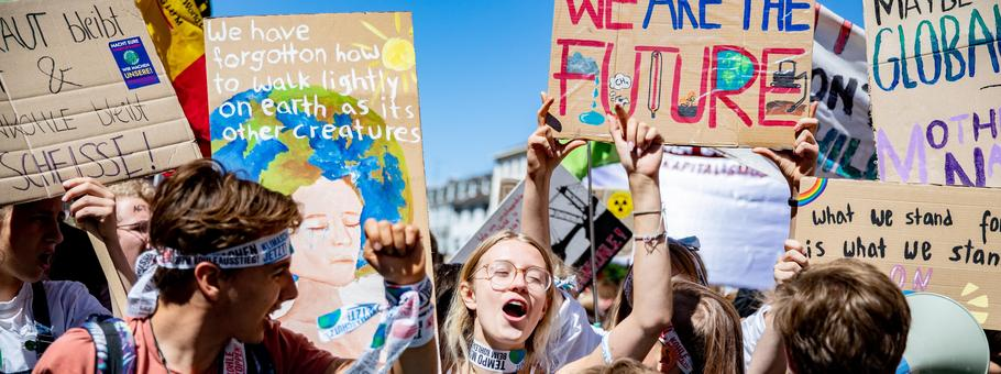 'Fridays for Future' Climate Demonstration In Aachen