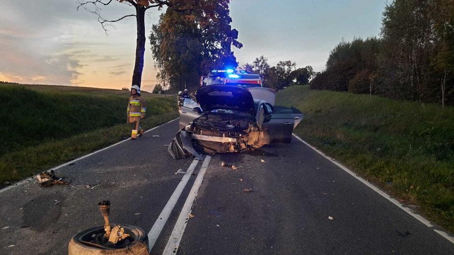 Śmiertelny wypadek na odcinku Barczewo - Jeziorany