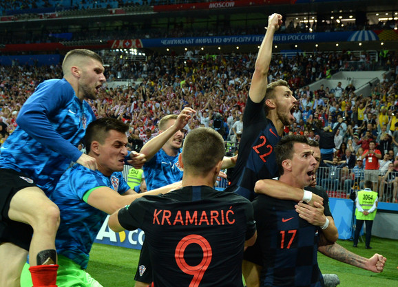 Slavlje Hrvata posle istorijskog plasmana u finale