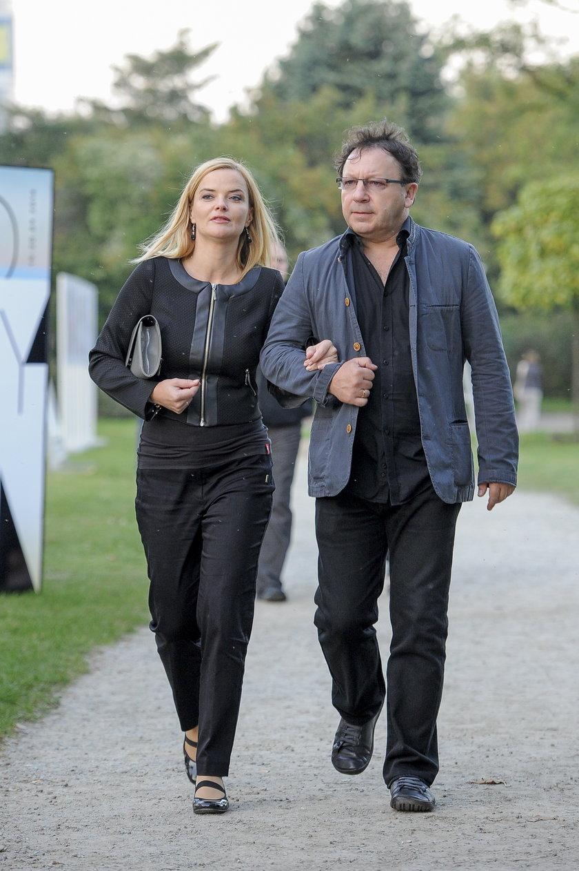 Monika Zamachowska z mężem we wrześniu 2014 roku