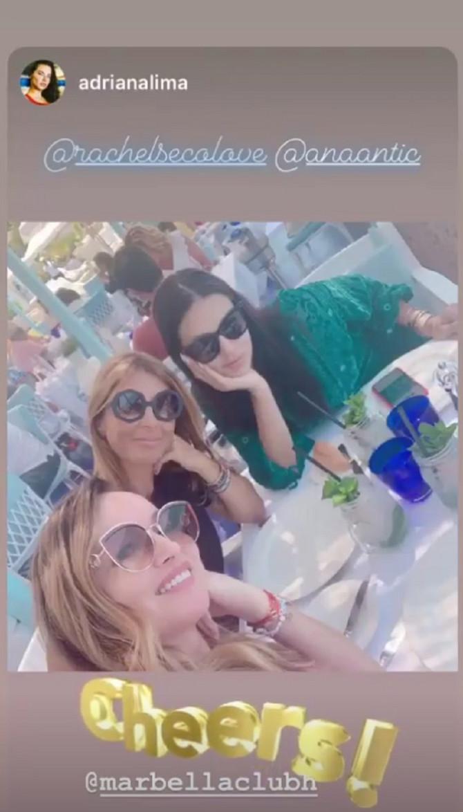 Ana Antić i Adrijana Lima sa prijatljicom
