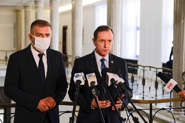 Konferencja prasowa Tomasza Grodzkiego
