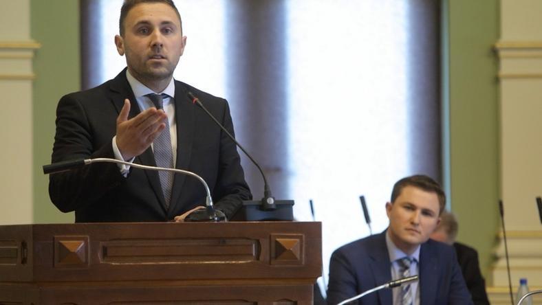 34-letni Piotr Borawski (na pierwszym planie) został nowym przewodniczącym PO w Gdańsku