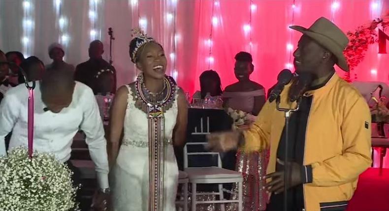 DP Ruto speaking at the wedding