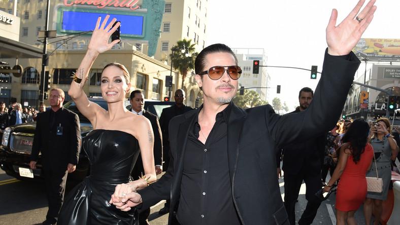 """Angelina Jolie i Brad Pitt na amerykańskiej premierze """"Czarownicy"""""""