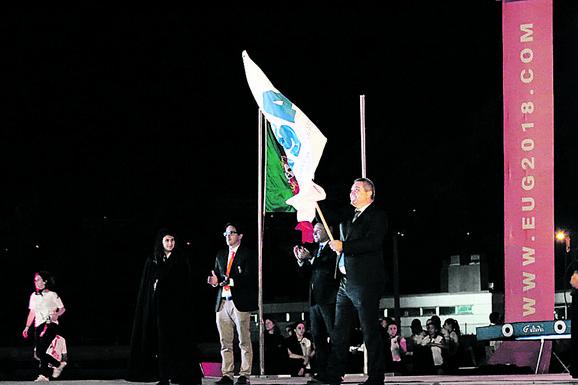 Jasnić je od Portugalaca preuzeo zastavu Univerzijade, ali je neće nositi na otvaranju igara u Beogradu 2020. godine