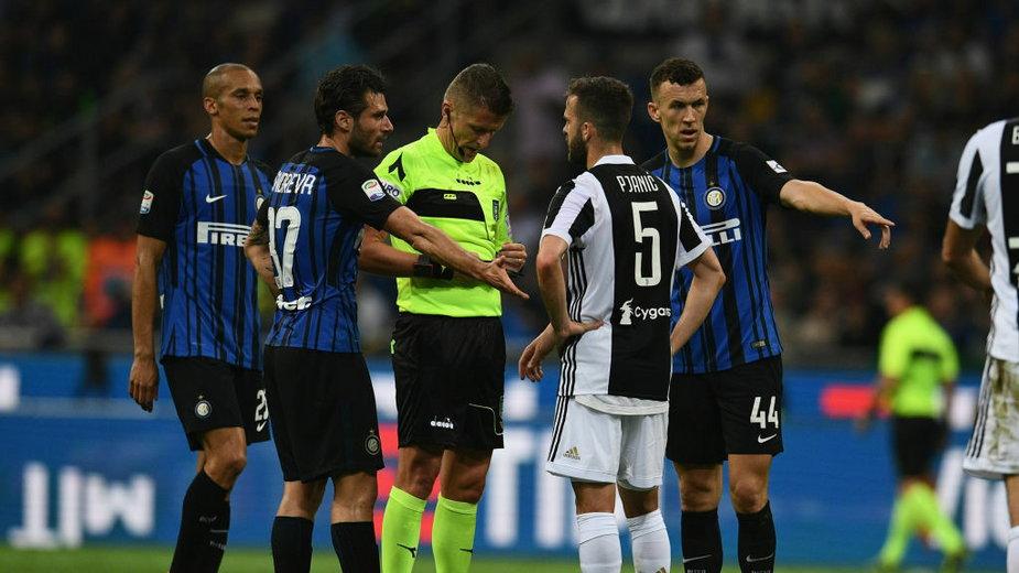 Daniele Orsato w czasie meczu Inter - Juventus