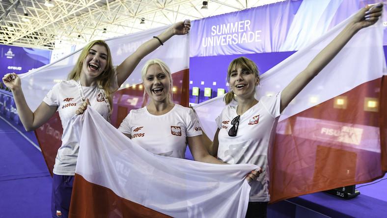 Katarzyna Komorowska (L), Aneta Stankiewicz (C) oraz Natalia Kochańska (P)