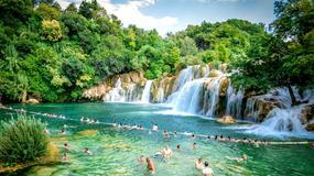 Koniec kąpieli w słynnym chorwackim Parku Narodowym Krka