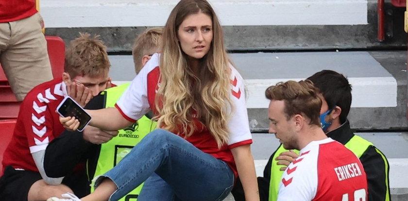Duński piłkarz reanimowany. Łzy rozpaczy partnerki Eriksena, wszystko widziała z trybun
