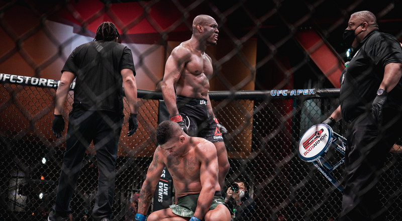 Nigerian Nightmare Kamaru Usman knocks out Gilbert Burns to retain his UFC Welterweight belt