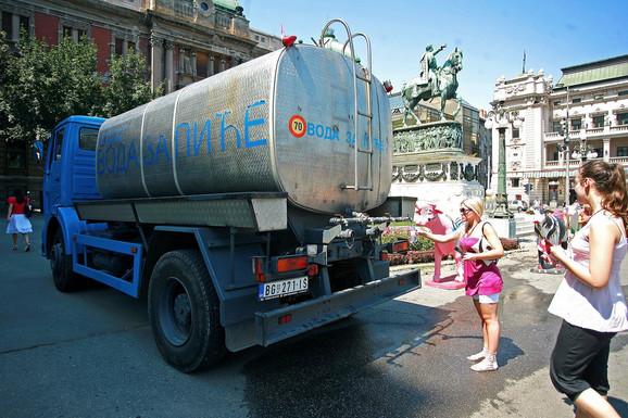 Zbog tropskih vrućina cisterne sa vodom biće postavljene u gradu