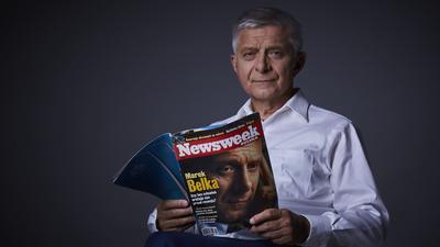 """Marek Belka. Bohater pierwszej okładki polskiego """"Newsweeka"""" z 2001 roku"""