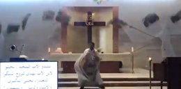 Przerażające nagranie z kościoła. Ksiądz uciekał ile sił