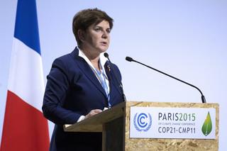 Szczyt klimatyczny w Paryżu: Beata Szydło wzywa do solidarności