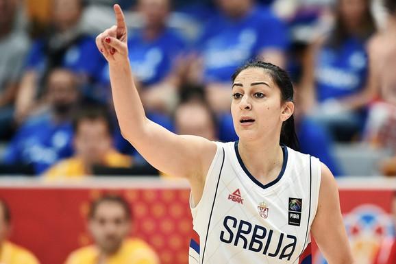 Jelena Milovanović na meču sa Grčkom