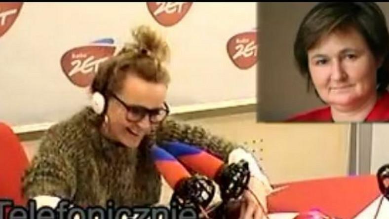 Monika Olejnik w studio Radia Zet