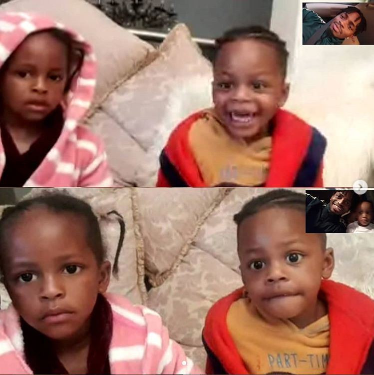 Diamond's kids meet for the first time on video call