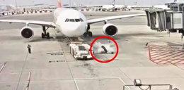 Przerażające wideo z lotniska! O włos od śmierci
