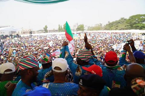 The crowd at APC campaign ground in Ikeja screamed APC (APC Lagos)