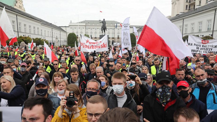 Protest rolników w Warszawie, 30 września 2020 r.