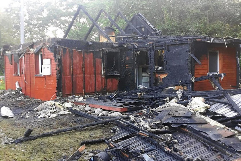 Dom pani Beaty z Antonina po pożarze