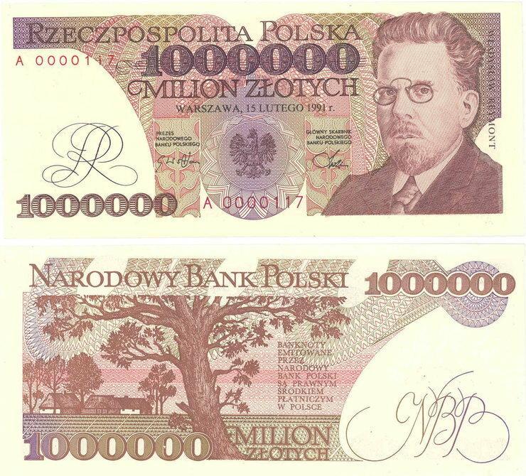 milion złotych