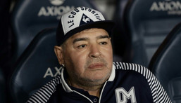 Argentine football star Diego Maradona died of a heart attack last November at the age of 60, just weeks after he underwent brain surgery on a blood clot Creator: ALEJANDRO PAGNI