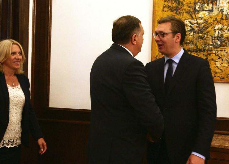 Aleksandar Vučić, Milorad Dodik, Sastanak, Andrićev venac