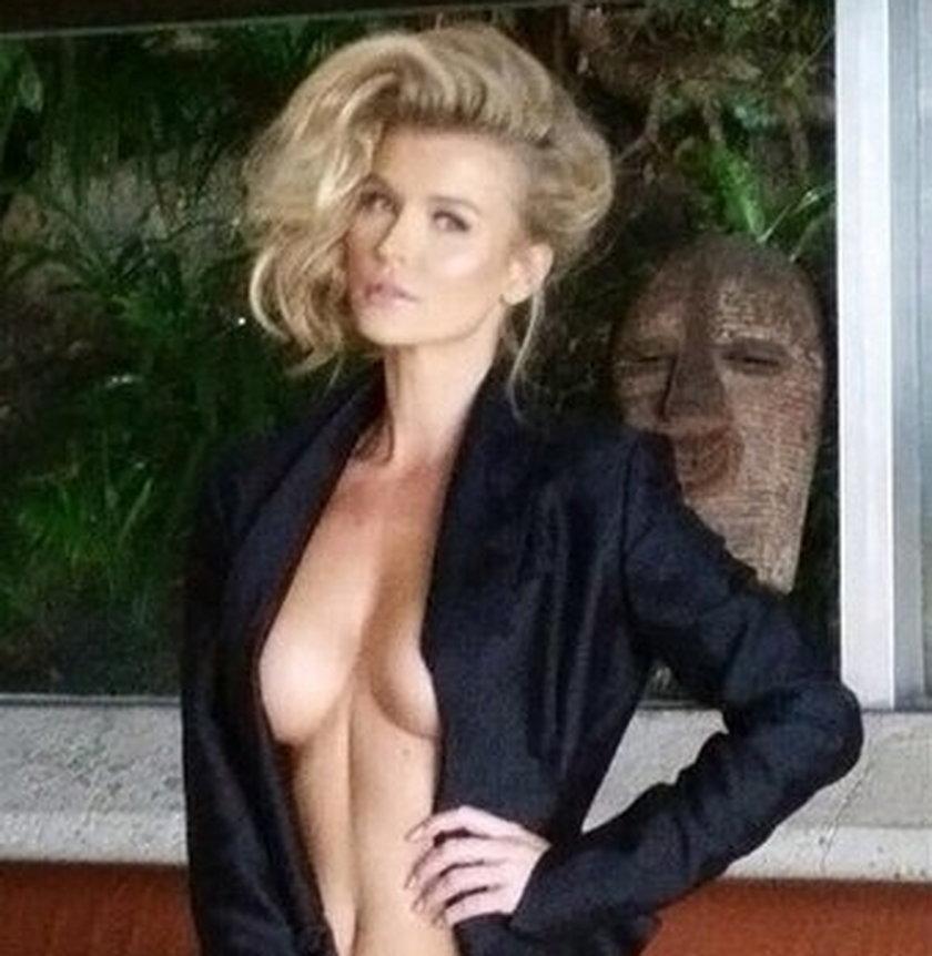 Joanna Krupa w czarnej koszuli