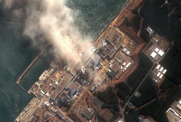 Snimak eksplozije u centrali Fukušima Daiči