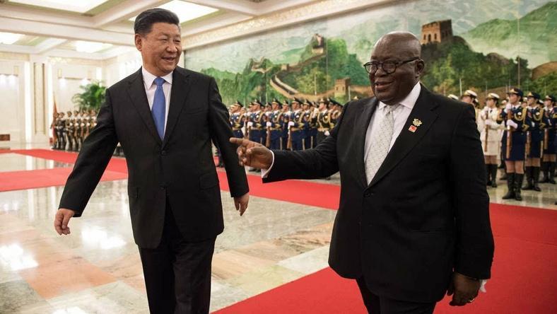 President Xi Jinping welcomes Akufo Addo to Beijing (Youtube/GNP TV)