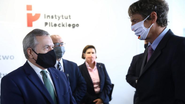 Piotr Gliński i Arndt Freytag von Loringhoven