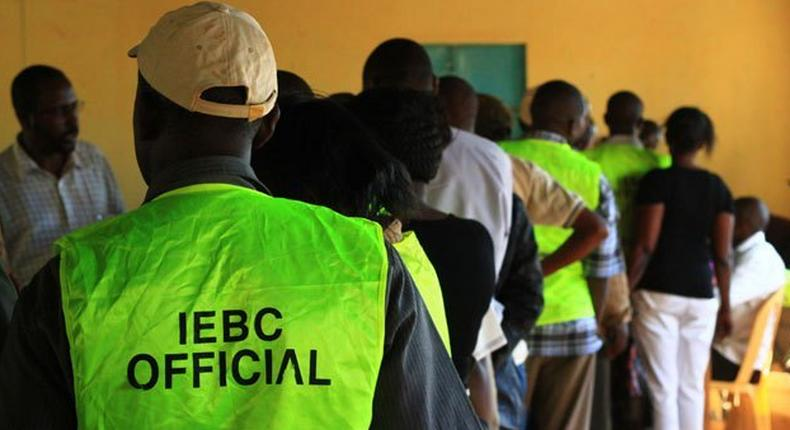 File image of an IEBC official during a past election