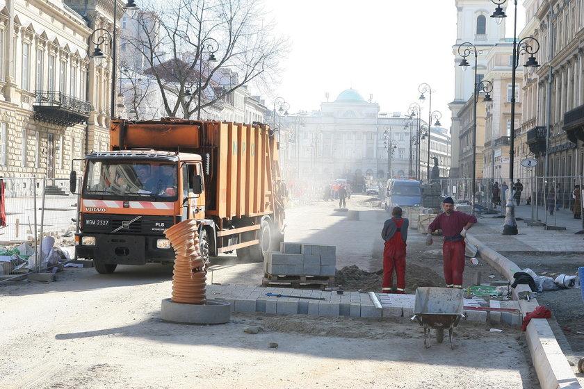 Znów rozkopią Krakowskie Przedmieście