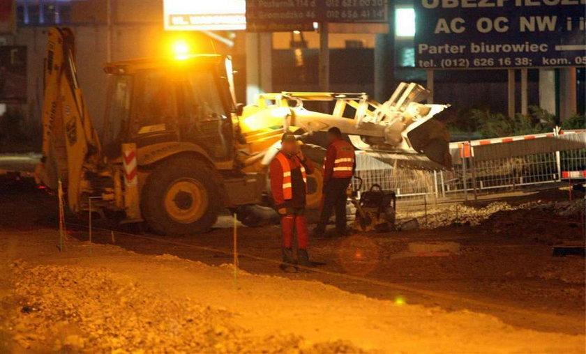 Tak drogowcy pracują w nocy